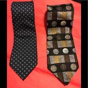Two Harve Bernard 100% Silk ties
